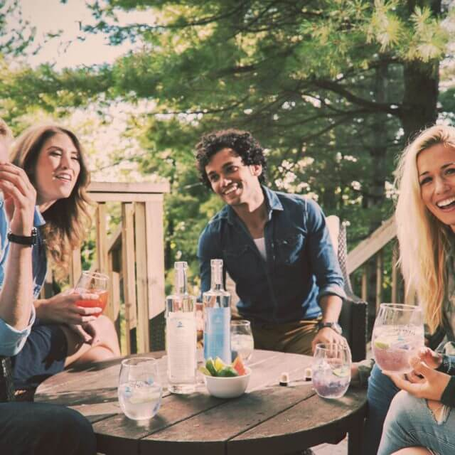 Friends enjoying Georgian Bay Vodka and Georgian Bay Gin at a BBQ