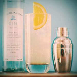 The classic Tom Collins recipe pairs perfectly with Georgian Bay Gin