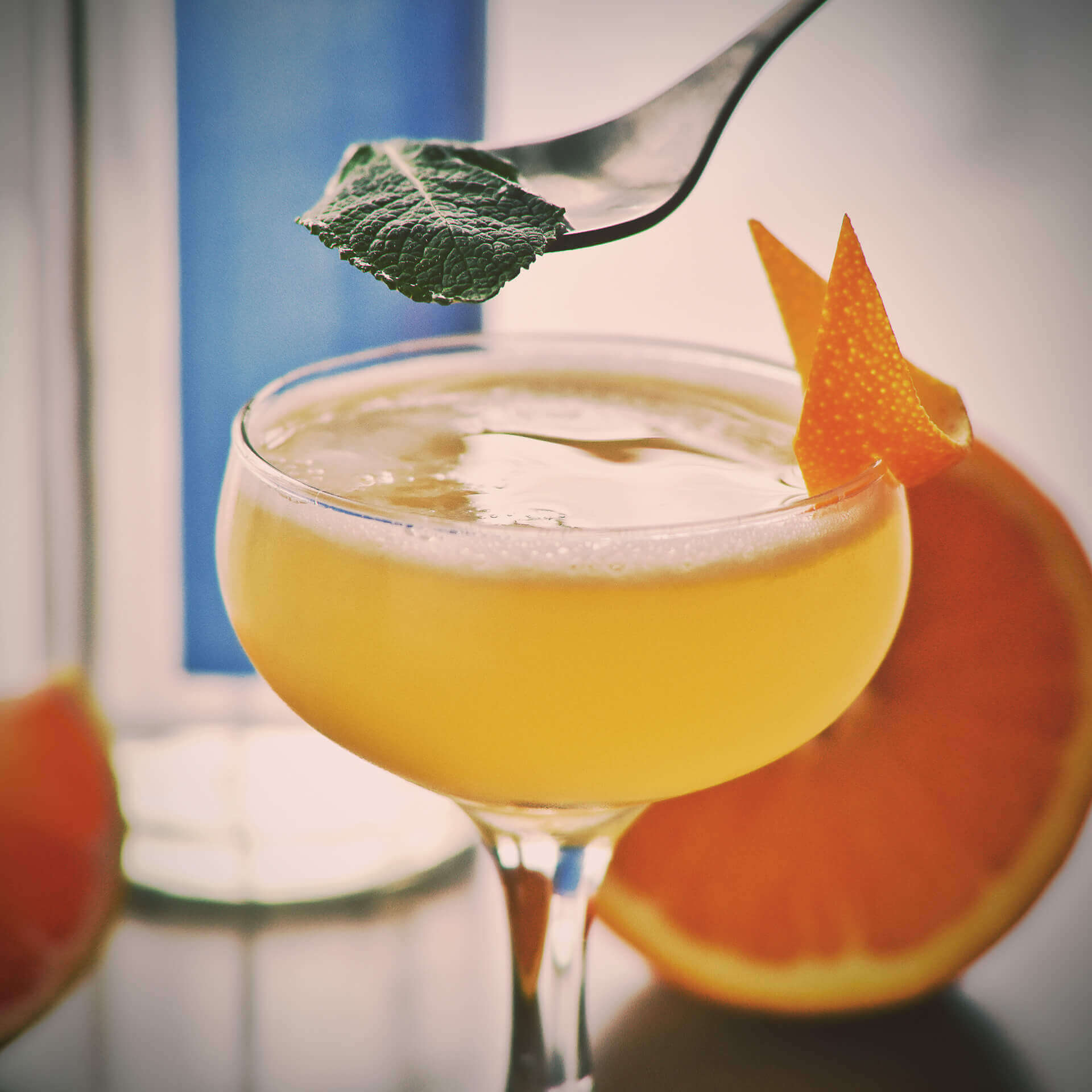 The Georgian Crush is a refreshing cocktail made with Georgian Bay Gin or Vodka