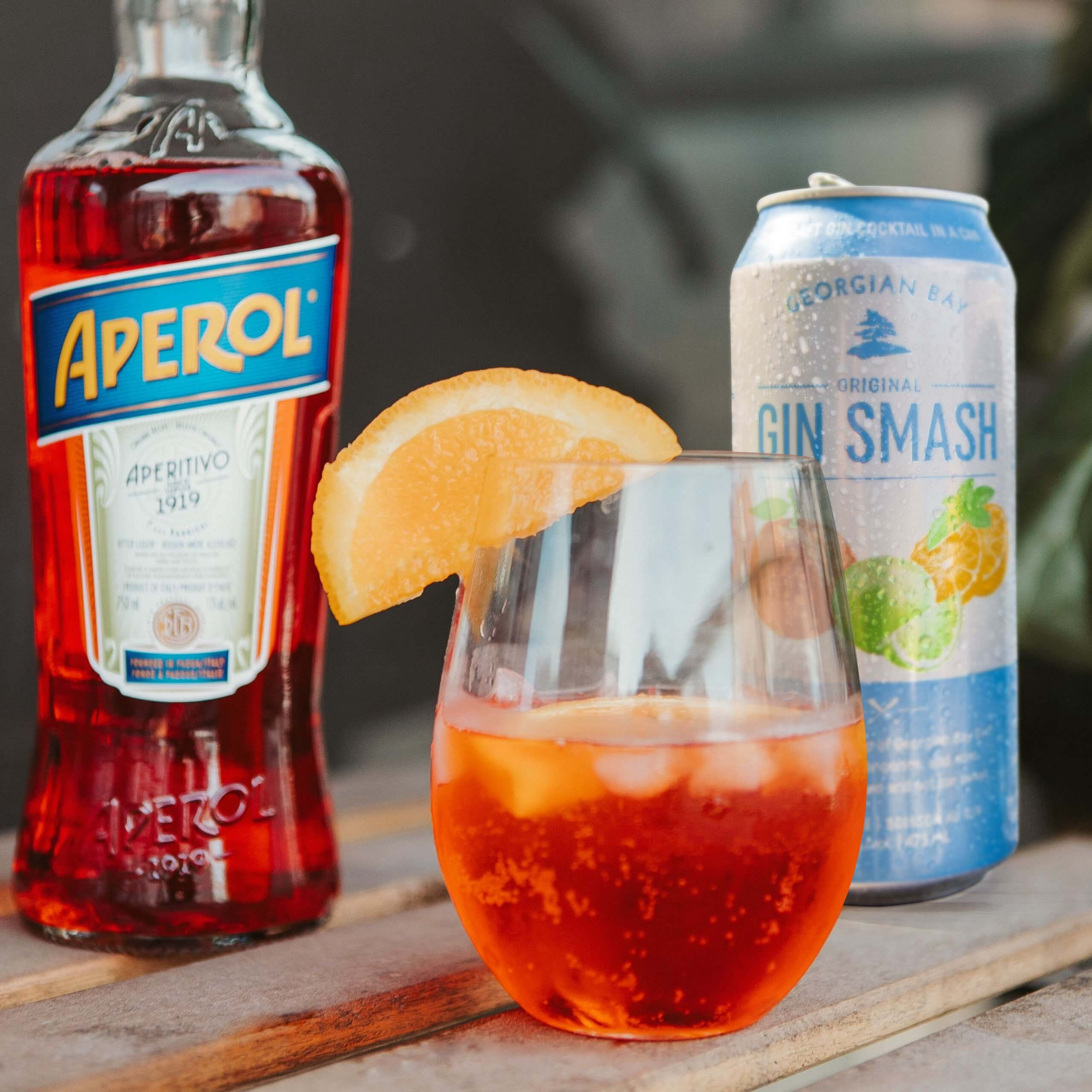 Georgian Bay Gin Smash Cocktail - Aperol Smash