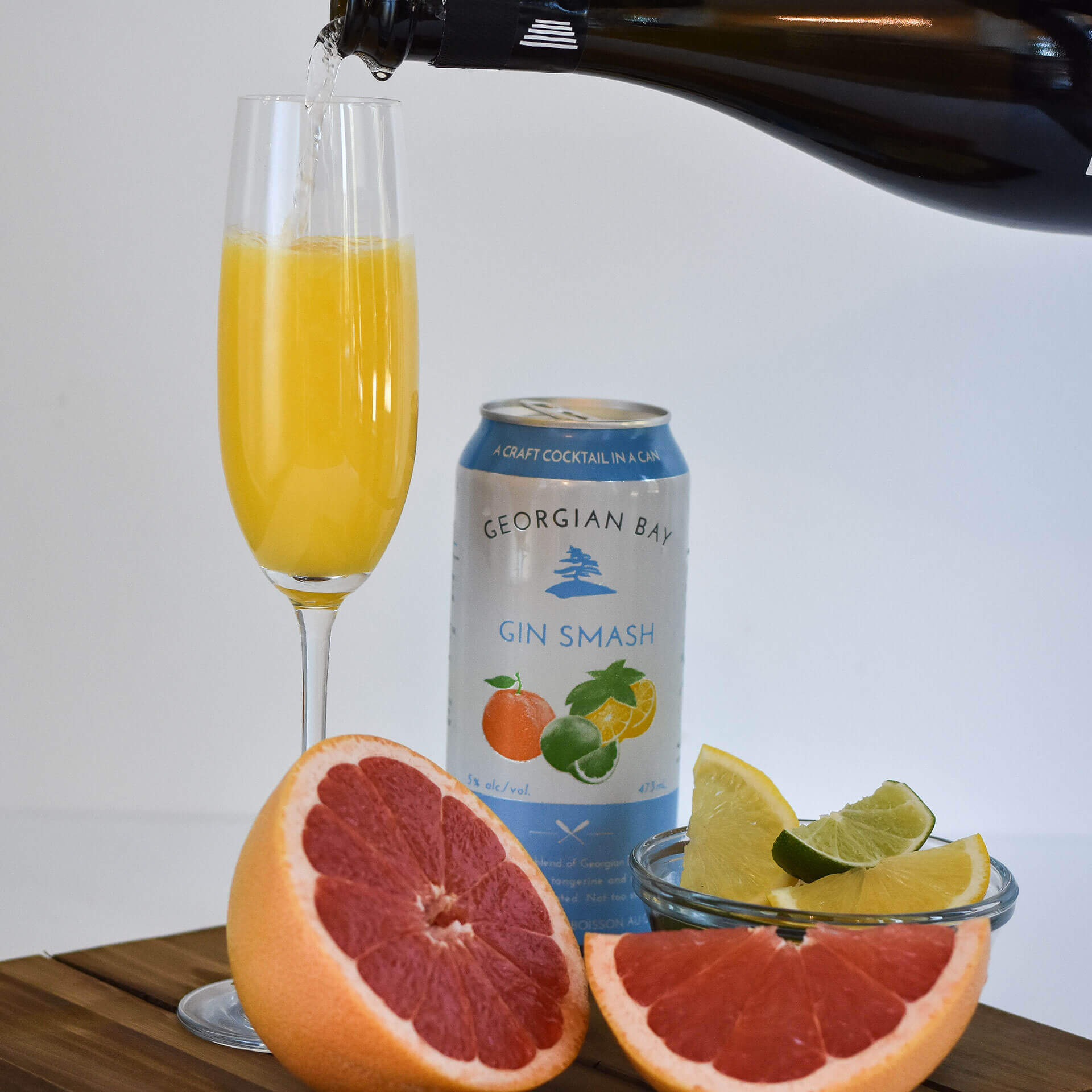 Gin Smash Recipe - Smash Mimosa