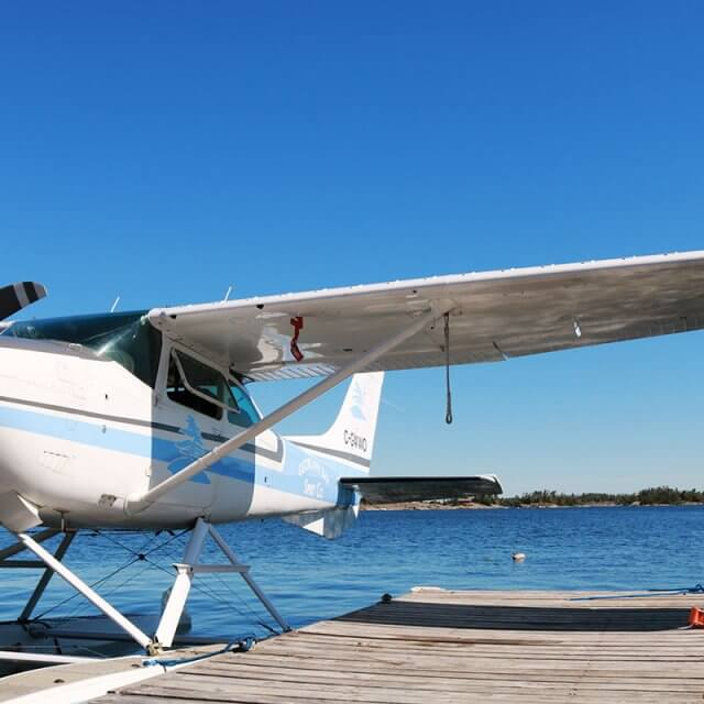 Float plane on Georgian Bay