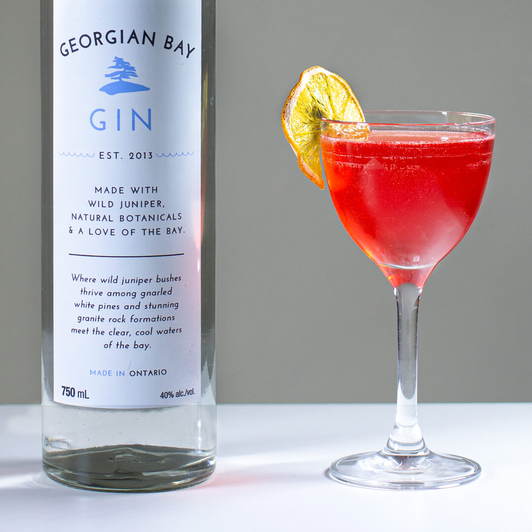 Georgian Bay Gin Cocktail - The Bay Rose