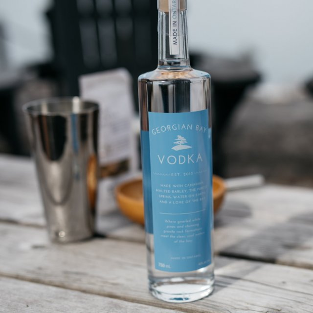 Georgian Bay Vodka sitting on a table