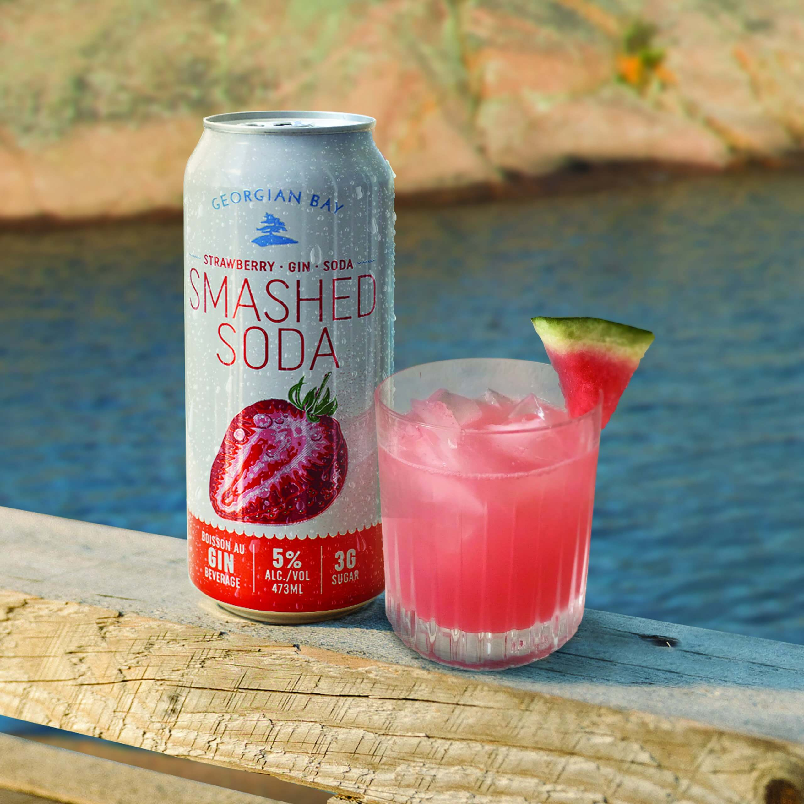 Georgian Bay Strawberry Smashed Soda - Strawberry Watermelon Cosmo