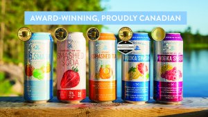 Georgian Bay Spirit Co.'s highly awarded smashed cocktails in a can