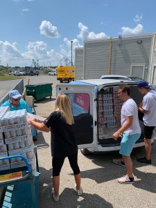 Georgian Bay Spirit co employees doing direct delivery samples