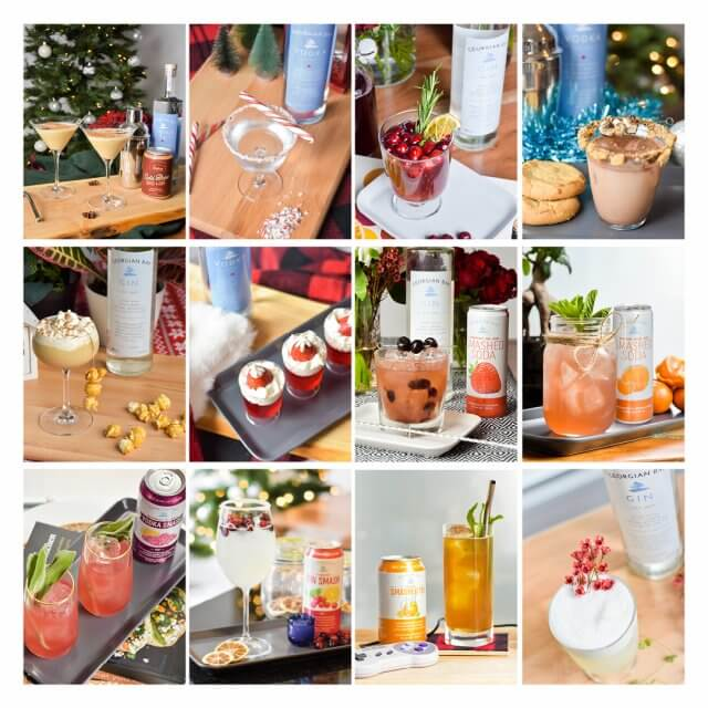 A range of cocktail photos from Georgian Bay Spirit Co website